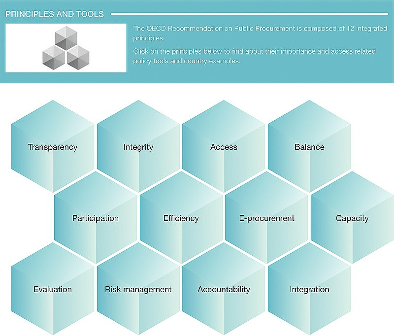 The OECD Toolbox website. Clicking on one of the cubes opens detailed explanation and guidance. See link below.