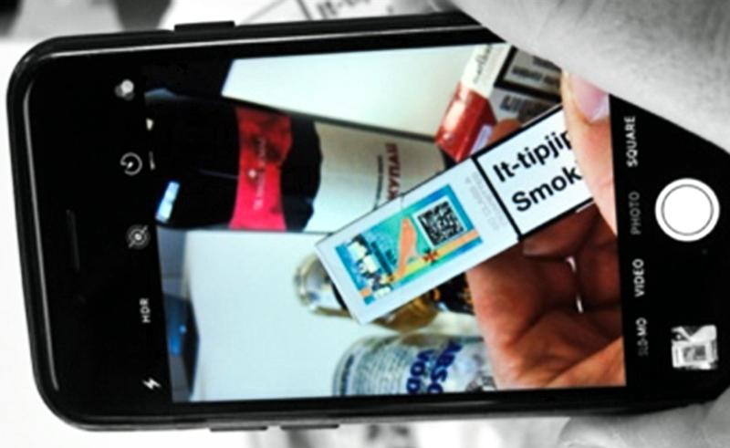 Malta's tobacco tax stamp.