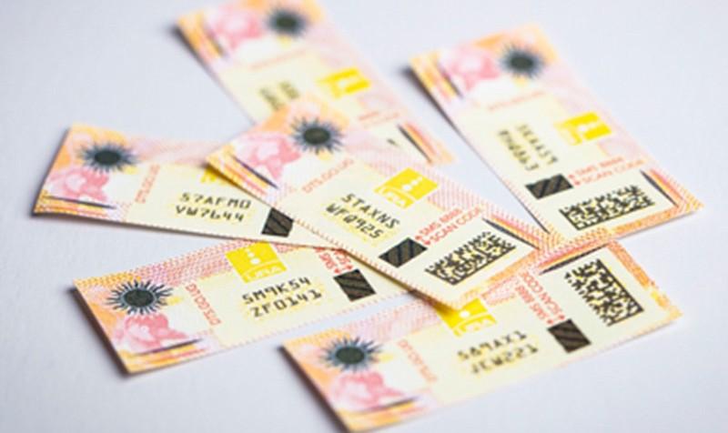 Uganda tax stamp.